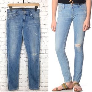 Agolde Collette Mid Rise Skinny Jean Blue Lagoon